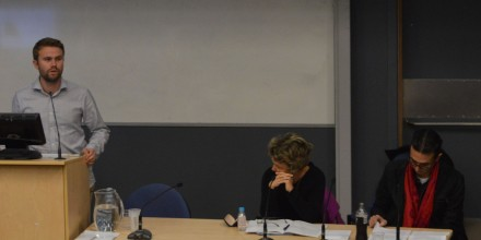 Political Transitions: Bougainville, New Caledonia and Fiji panel presenting at SOTP2016. Image SSGM