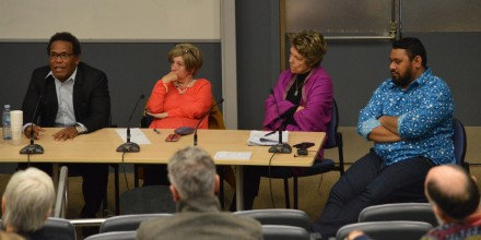 The New Pacific Diplomacy panel at SOTP2016 conference. Image SSGM