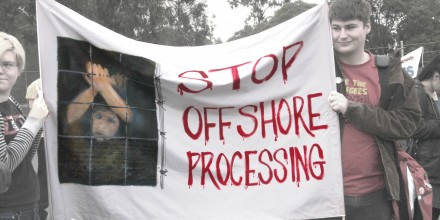 Banner: Stop Offshore Processing