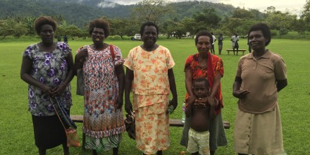 Rita Pearson, 2015 election candidate in Taonita Teop, Autonomous Region of Bougainville, with some of her campaign team. Image SSGM