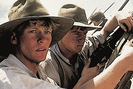 Archy (Mark Lee) gets ready for the charge at the Nek in Peter Weir's 'Gallipoli'.