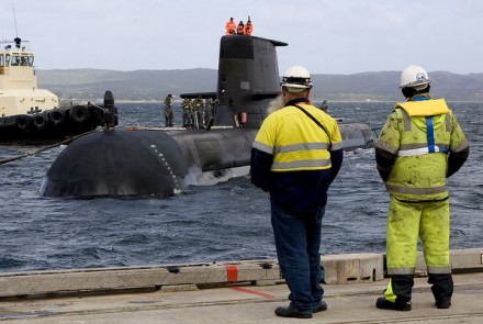 A major expenditure will be the replacement of Collins Class submarines. Image from Flickr, courtesy of Royal Australian Navy.