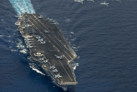 USS Carl Vinson sailing through the South China Sea. Image from Flickr, courtesy of US Pacific Fleet.