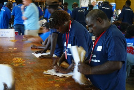 Bougainville referendum counting