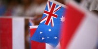 Indonesia and Australian flags. Image from Flickr, Department of Foreign Affairs and Trade.