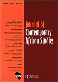 Journal of Contemporary African Studies