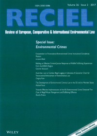 RECEIL: Review of European, Comparative & International Environmental Law